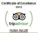 Hotel Alcott awarded Certificate of Excellence by TripAdvisor for 2012!