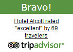 The Hotel Alcott has been awarded a Bravo Badge by TripAdvisor!